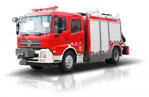 Emergency rescue fire vehicle